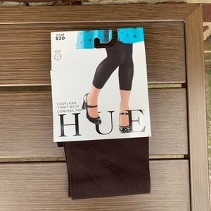 Hue Footless Tights Size 2 Espresso